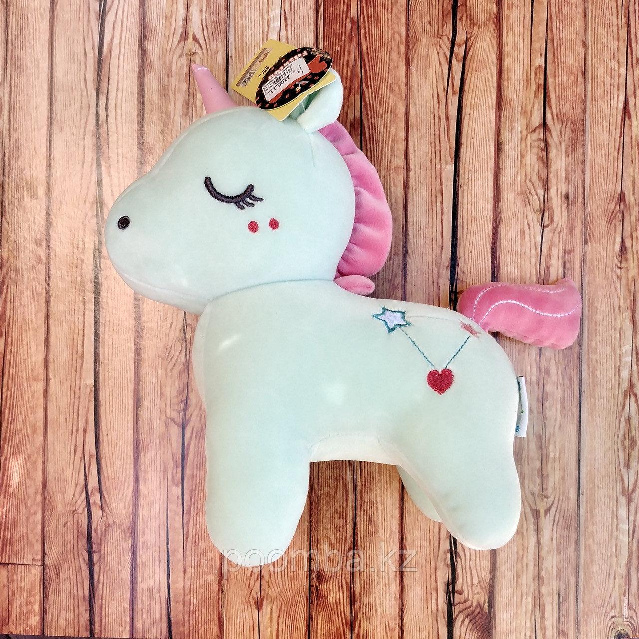 Мягкая игрушка Единорог - бирюзовый
