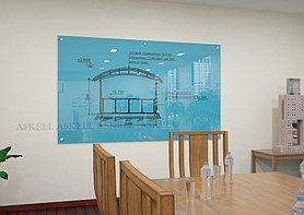 Доска стекло-маркерная, 600х900 мм, настенная, c внешними креплениями (STANDART) ASKELL