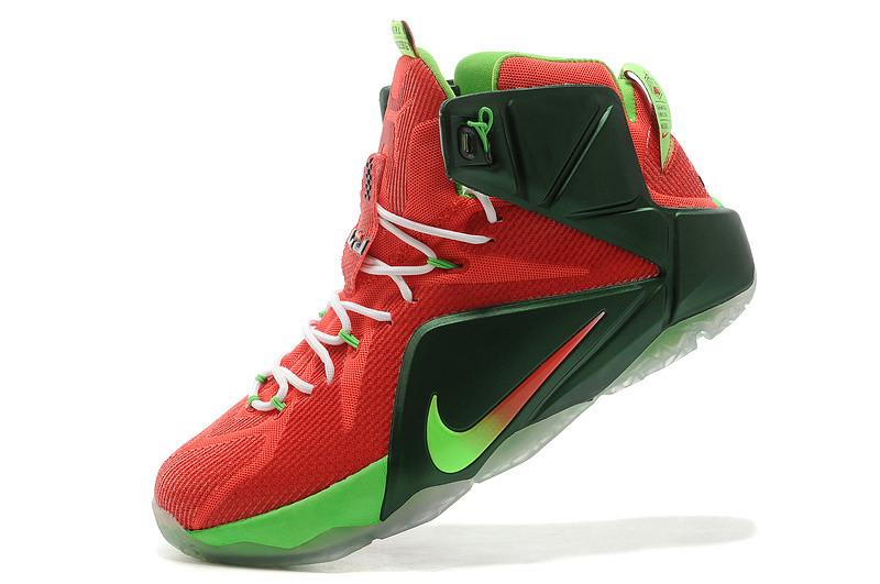 Баскетбольные кроссовки Nike Lebron 12 Elite красно-черные