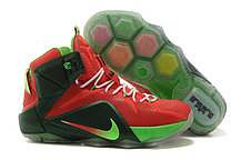 Баскетбольные кроссовки Nike Lebron 12 Elite красно-черные, фото 3
