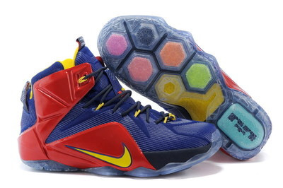 Баскетбольные кроссовки Nike Lebron 12 Elite красно-синие