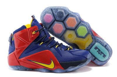 Баскетбольные кроссовки Nike Lebron 12 Elite красно-синие, фото 2