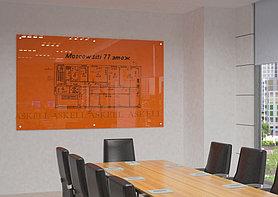 Доска стекло-маркерная, 1200х2400 мм, настенная, c внешними креплениями (STANDART) ASKELL
