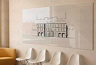 Доска стекло-маркерная, 1200х1800 мм, настенная, c внутренними креплениями (LUX) ASKELL, фото 2