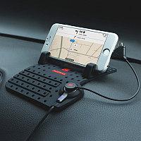 Коврик-держатель REMAX CAR HOLDER на панель автомобиля с функцией заряда телефона