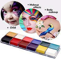 Аквагрим, набор краски для лица маслянные 12 цветов