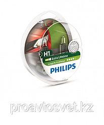 Галогенные лампы Phillips H1 LongLife Ecovisin S2