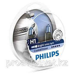 Галогенные лампы Phillips H1/w5w crystal Vision 12258 12v s2