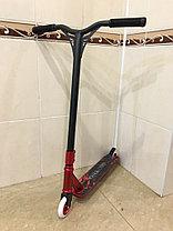 Трюковый самокат SPORT Black-Red со стальными колесами, фото 3