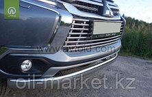 Защита переднего бампера, овальная для  Mitsubishi Pajero Sport (2016-), фото 2