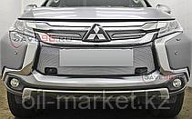 Защита переднего бампера, круглая с защитой Shark для  Mitsubishi Pajero Sport (2016-), фото 3