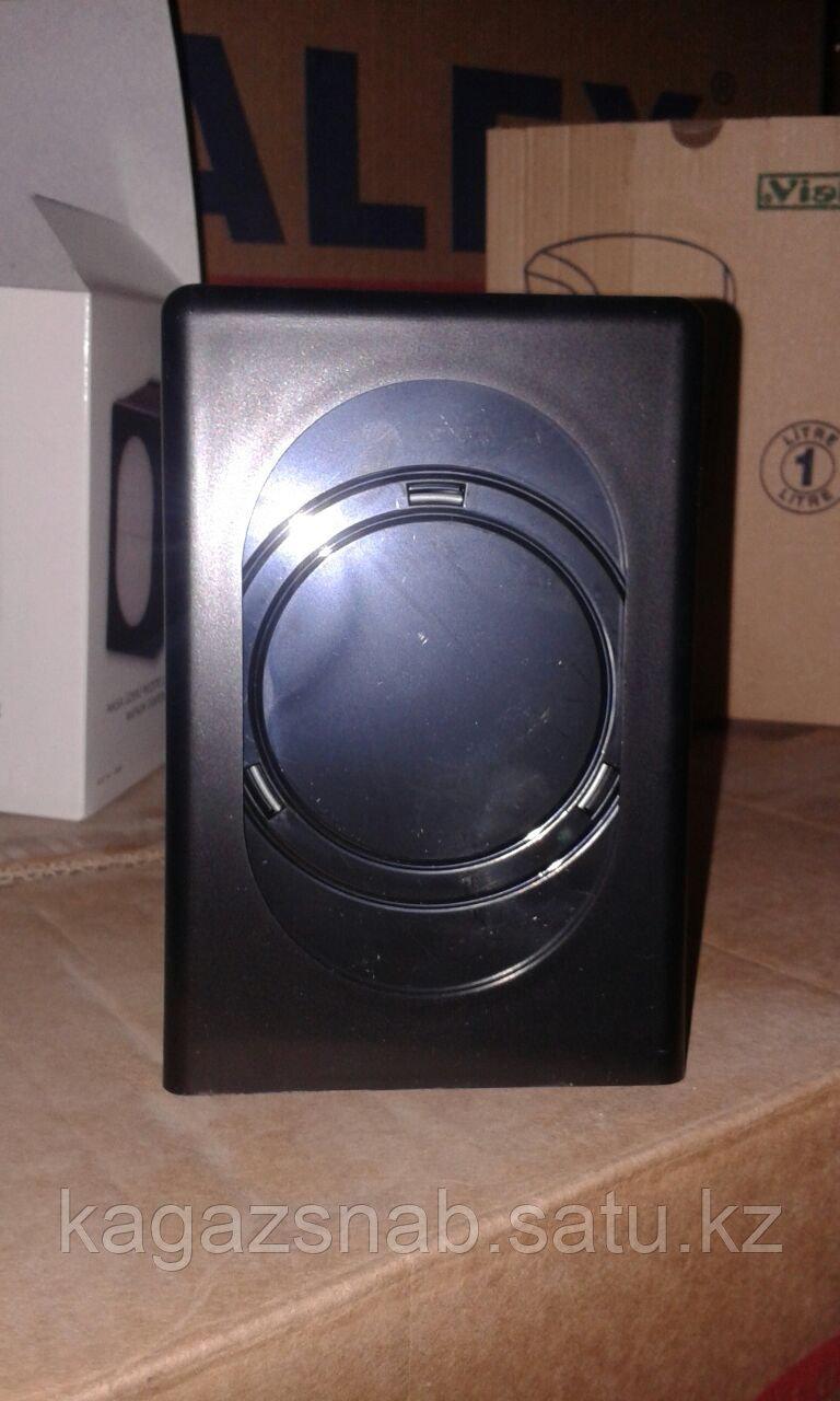 Диспенсер для салфеток настольный (0680 черный с деревом) - фото 2