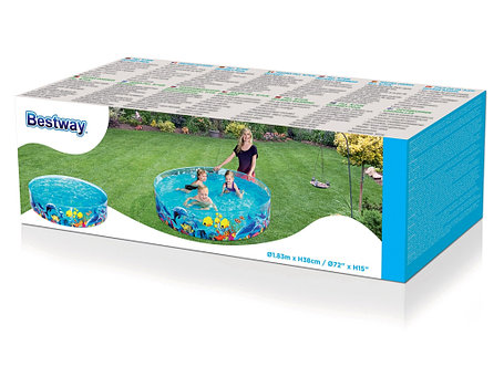 Детский бассейн распорный «Морская Одиссея» Bestway 55030 (Габариты: 183 х 38 см, на 946 литров ), фото 2