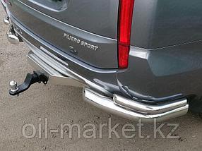 Защита заднего бампера, уголки двойные для  Mitsubishi Pajero Sport (2016-), фото 2