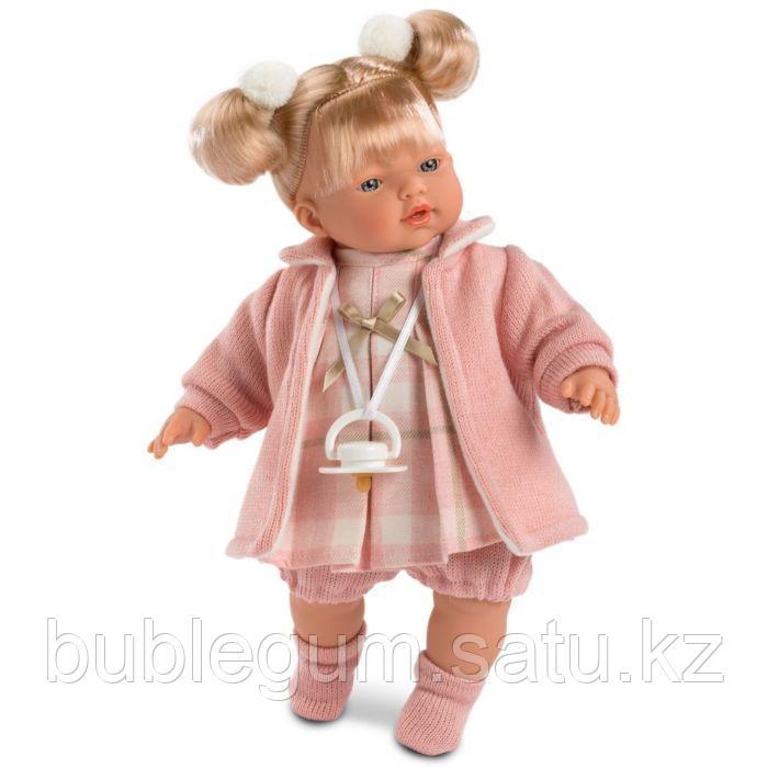 LLORENS: Кукла малышка Ариана 33 см, блондинка в розовом пальто