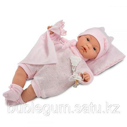 LLORENS: Кукла малышка Жоэль 35 см в роз.пижамке с одеялом