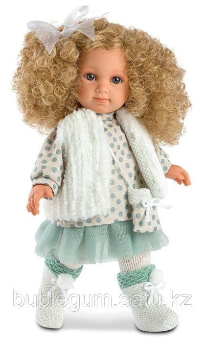 LLORENS: Кукла Елена 35см, блондинка в бирюзовой юбке