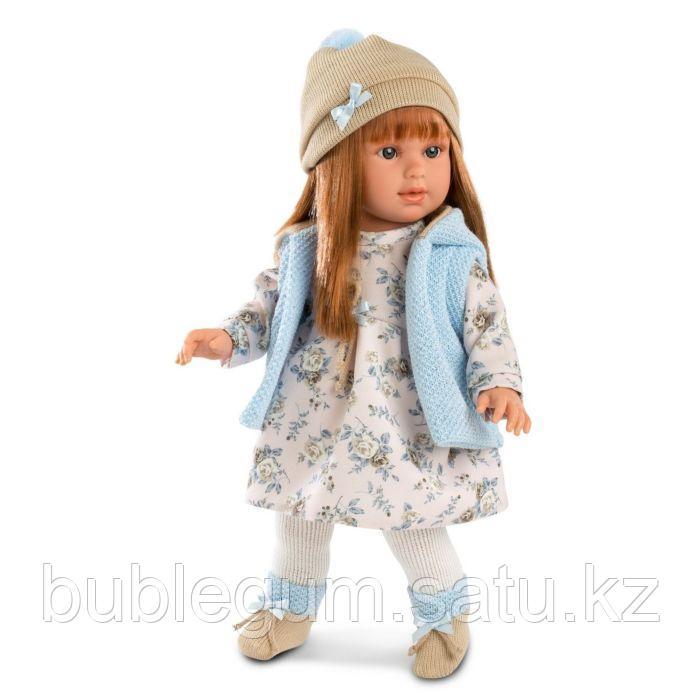 LLORENS: Кукла Мартина 40см, шатенка в голубом жилете