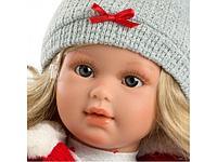 LLORENS: Кукла Мартина 40см, блондинка в красном жилете
