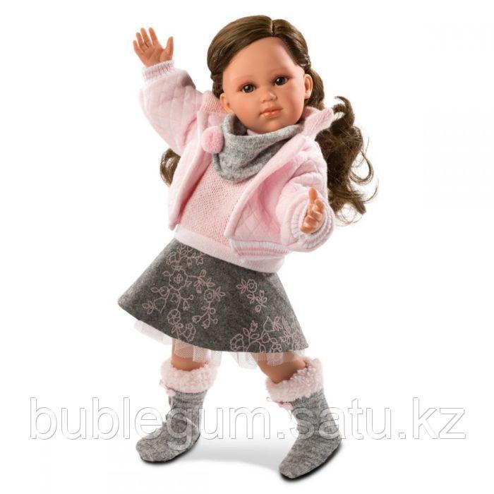 LLORENS: Кукла Хелена 42см, брюнетка в розовой курточке
