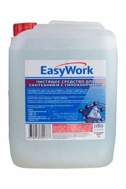 """Средство для чистки сантехники """"EasyWork"""", 5 л."""