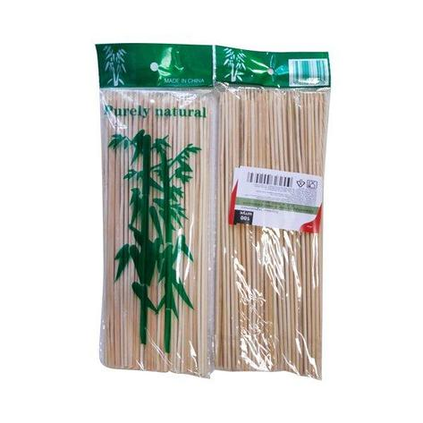 Палочки д/шашлыка, d 2.5мм, 200мм, бамбук, 100 шт, фото 2