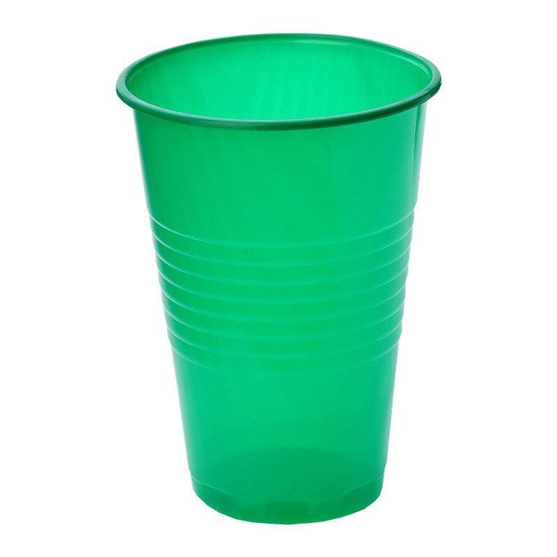Стакан для холодных, горячих напитков, объем 0,20л, зелёный, 6 шт