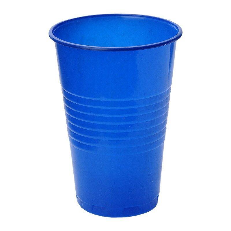 Стакан для холодных, горячих напитков, объем 0,20л, синий, 6 шт