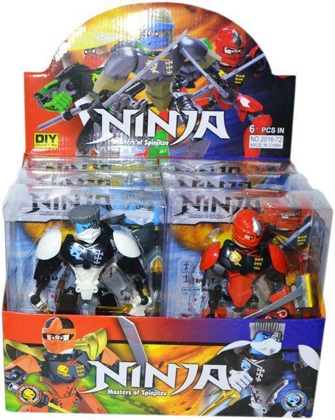 2016-72 Поврежденная упаковка!!! Конструктор бионикл Ninja of spinjitsu ниндзяго  из 6 цена за 1шт 22*16