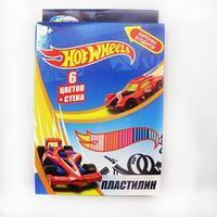 Пластилин 6 цветов Hot Wheels, 120 гр, стека пластиковая