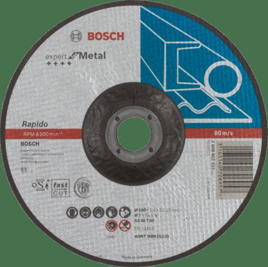 2608603400 Отрезной круг Bosch Expert for Metal Rapido 230x1.9 мм по металлу прямой