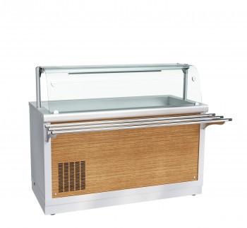 Прилавок холодильный ПВВ(Н)-70Х-01-НШ, 1500 мм, +1…+10 С (открытый), охлаждаемая ванна без гастроемкостей, 2 с