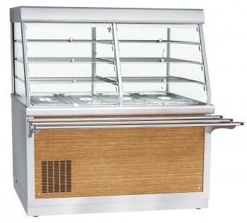 Прилавок-витрина холодильный ПВВ(Н)-70Х-С-01-НШ, 1500 мм, саладэт +5…+15 С (динамика), охлаждаемая ванна с гас
