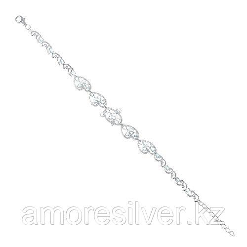 Серебряный браслет с фианитом и топазом   Teosa B-DRGR00509-T