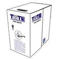 Кабель TWT UTP, 4 пары, Кат.6, PVC, серый, 305 метров