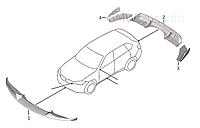 Обвес Карбоновый Performance на BMW X5 F15 , фото 1