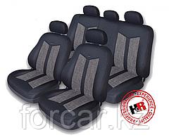Чехлы модельные MAZDA 3 TWEED Черный/Серый 60006 HB