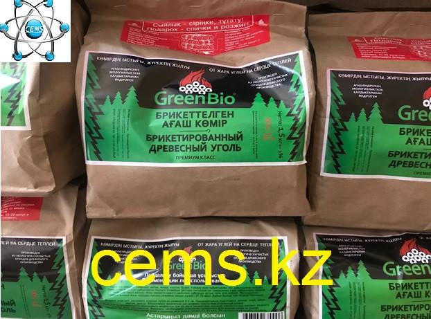 Уголь древесный (брикет) 1,5 кг фасовка