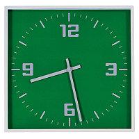 """Часы настенные """"КВАДРАТ""""; зеленый, 30*30 см; пластик; без элементов питания, Зеленый, -, 3619 15"""