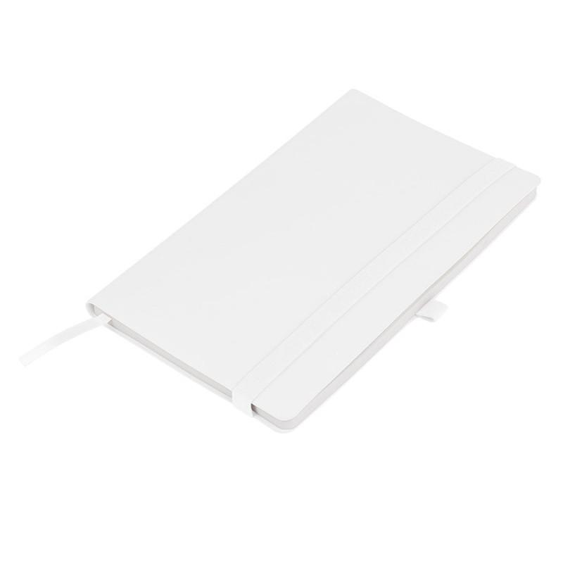 Бизнес-блокнот GRACY на резинке, формат А5, в линейку, Белый, -, 21223 01