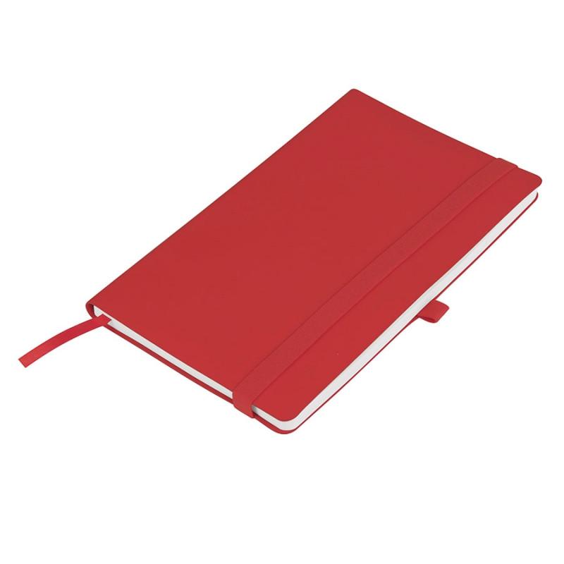 Бизнес-блокнот GRACY на резинке, формат А5, в линейку, Красный, -, 21223 08