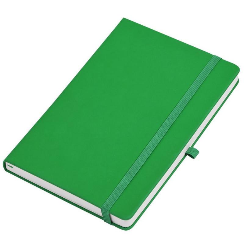"""Бизнес-блокнот  """"Silky"""", формат А5,  обложка твердая,  блок в клетку, Зеленый, -, 21215 15"""