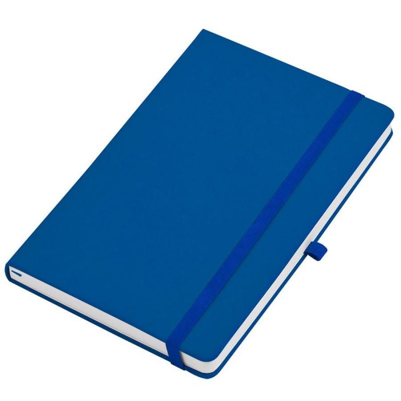 """Бизнес-блокнот  """"Silky"""", формат А5,  обложка твердая,  блок в клетку, Синий, -, 21215 24"""