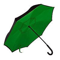 """Зонт-трость """"наоборот"""" ORIGINAL, пластиковая ручка, механический, Зеленый, -, 7431 15"""
