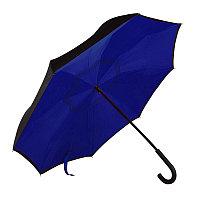 """Зонт-трость """"наоборот"""" ORIGINAL, пластиковая ручка, механический, Темно-синий, -, 7431 26"""