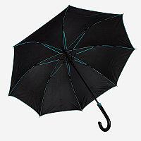 Зонт-трость BACK TO BLACK, пластиковая ручка, полуавтомат, Черный, -, 7432 22