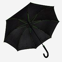 Зонт-трость BACK TO BLACK, пластиковая ручка, полуавтомат, Черный, -, 7432 15, фото 1