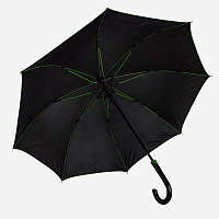 Зонт-трость BACK TO BLACK, пластиковая ручка, полуавтомат, Черный, -, 7432 15