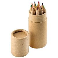 """Набор цветных карандашей (12шт)  """"Игра цвета"""" в футляре, коричневый, , 23901"""