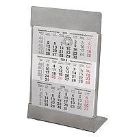 Календарь настольный на 2 года; размер 18*11,5 см, цвет- серебро, сталь, серебристый, , 9560